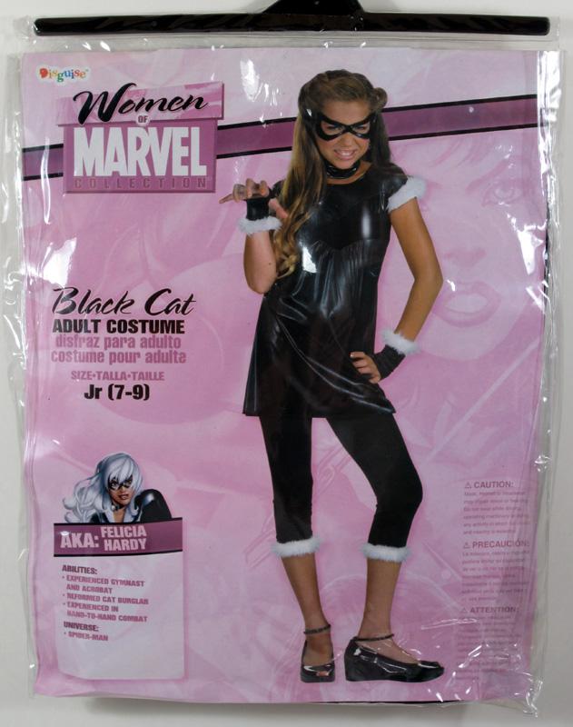 Adult Ladies Spider Man Black Cat Costume Jr 7 9 Marvel Womens