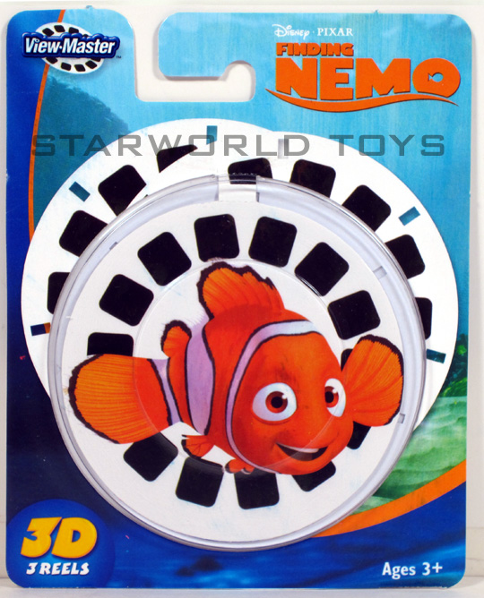 VIEW MASTER FINDING NEMO x3 REELS 3D Disney Pixar Fisher Price NEW