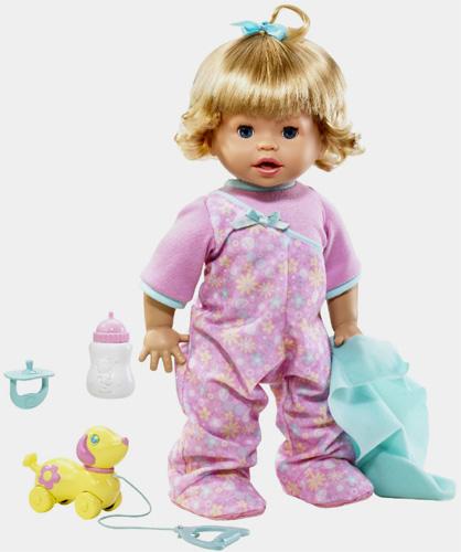 Интерактивная Кукла Fisher Price умеющая ходить, садиться, говорить, играть.