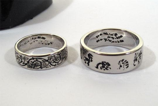 Details about McFarlane CORPSE BRIDE 2 WEDDING RINGS Replica BOX SET.