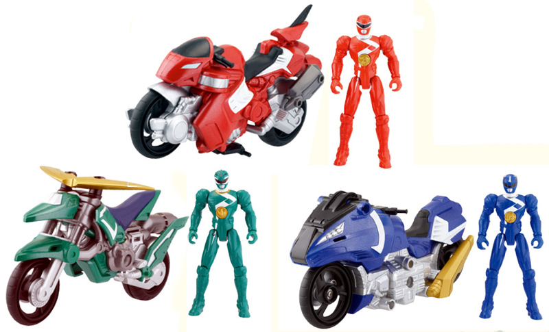 MIGHTY MORPHIN POWER RANGERS LOT OF 3 DINO CYCLES RED BLUE GREEN NIP