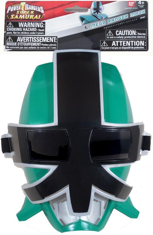 Power rangers super samurai mega ranger mask forest green - Masque de power rangers ...